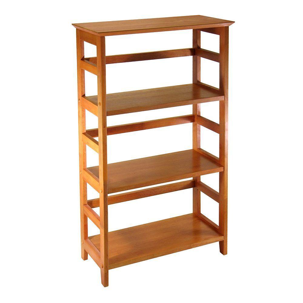 Winsome 4 Tier Bookshelf Winsome Wood Bookcase Wood Bookshelves