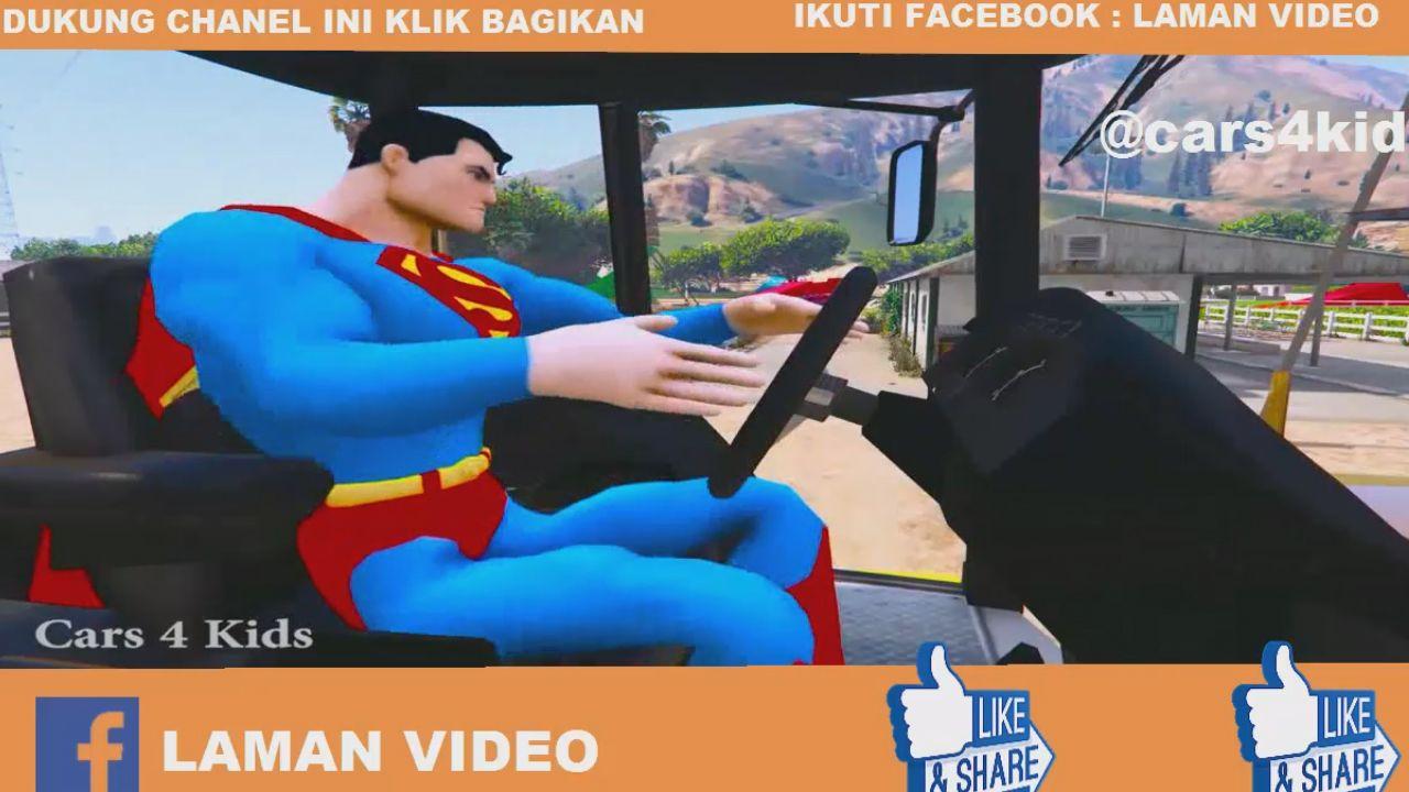 Mengendarai Banyak Mobil Tokoh Kartun Truck Kontener Besar Warna Warni Motor Polisi Pesawat Jet Kids Disney Characters Donald