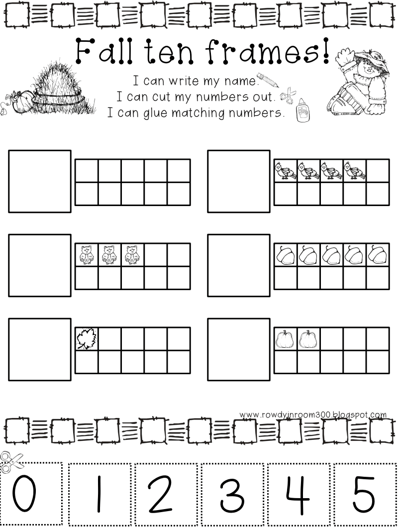 fall ten frame.pdf Google Drive Preschool math