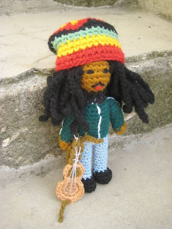 Amigurumi Doll Bob Marley Inspired Crochet Pattern By