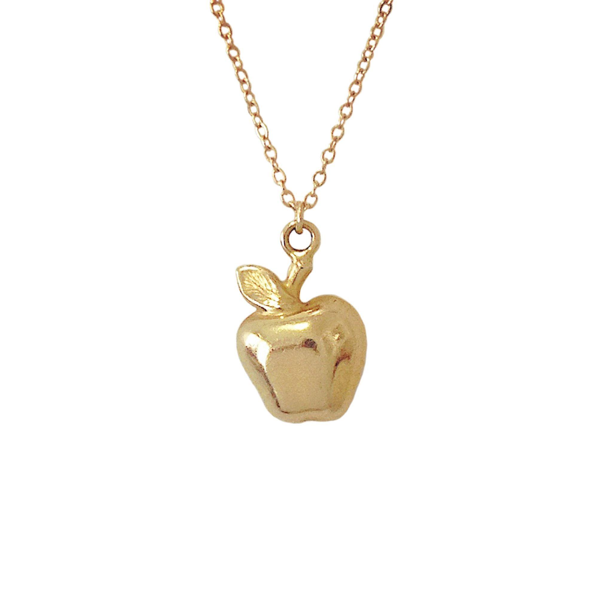 14k golden apple pendant necklace apples pendants and products 14k golden apple pendant necklace aloadofball Gallery