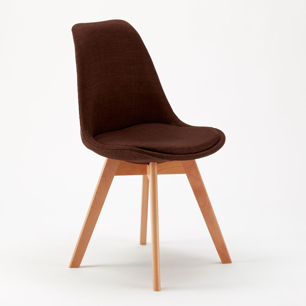 Sedie con Cuscino Tessuto Design Scandinavo TULIP NORDICA