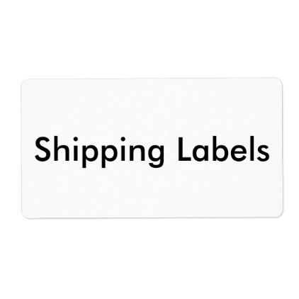 Personalized Shipping Labels - shipping slip template