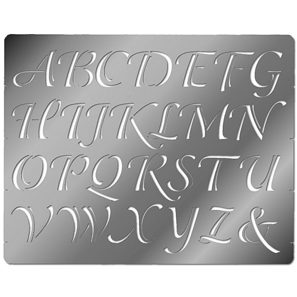 Free cut out alphabet stencils embossing stencil