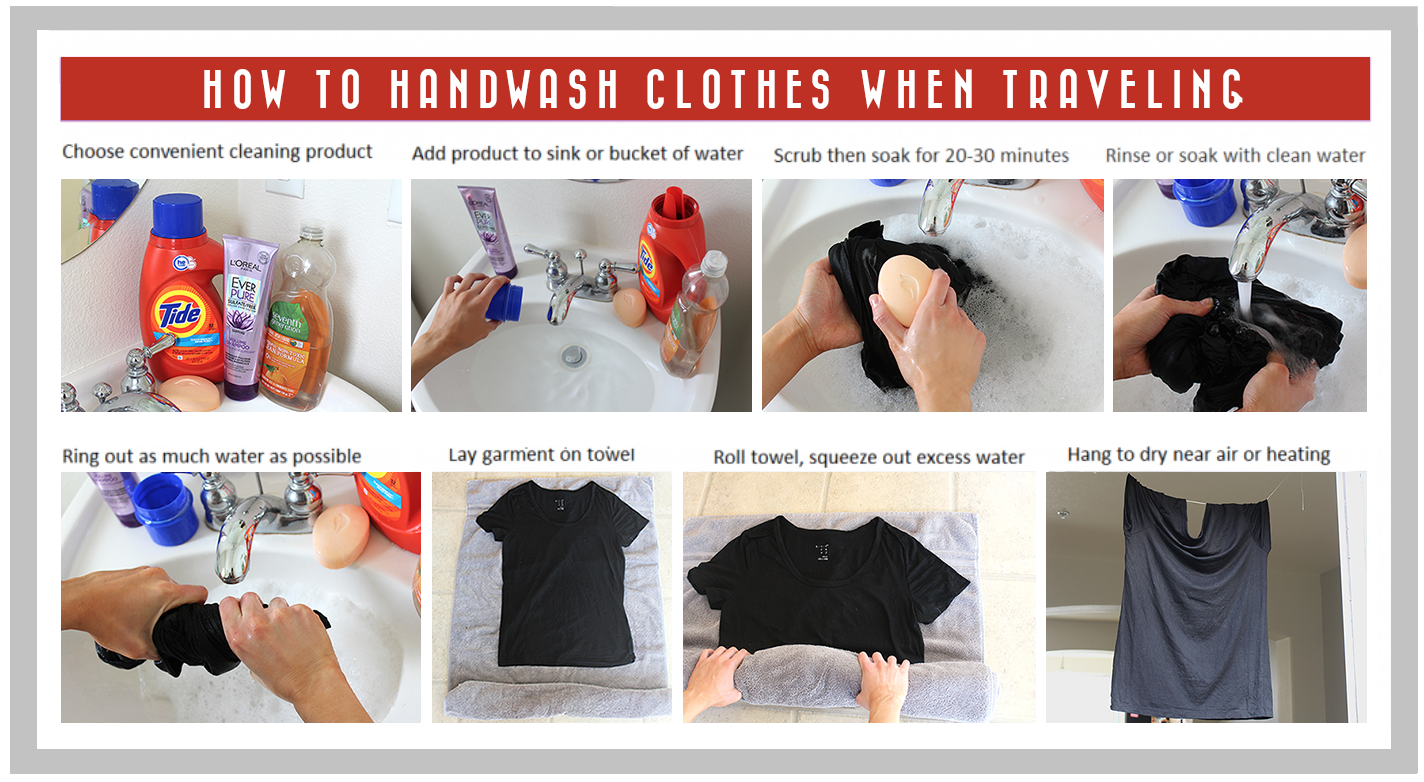 How To Do Laundry While Traveling 3 Options Washing Clothes By Hand Handwashing Clothes Washing Clothes