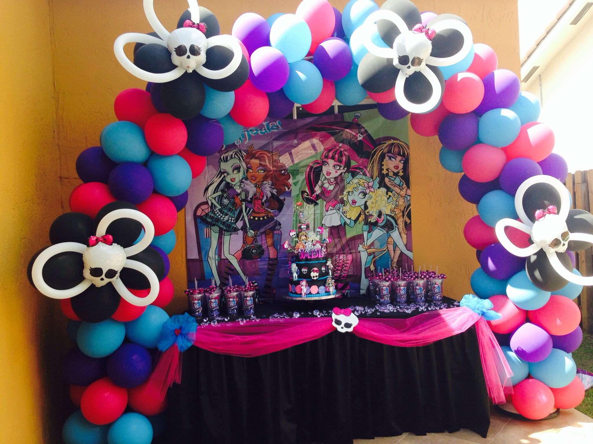Bday Party Ideas Monster High Cake Table