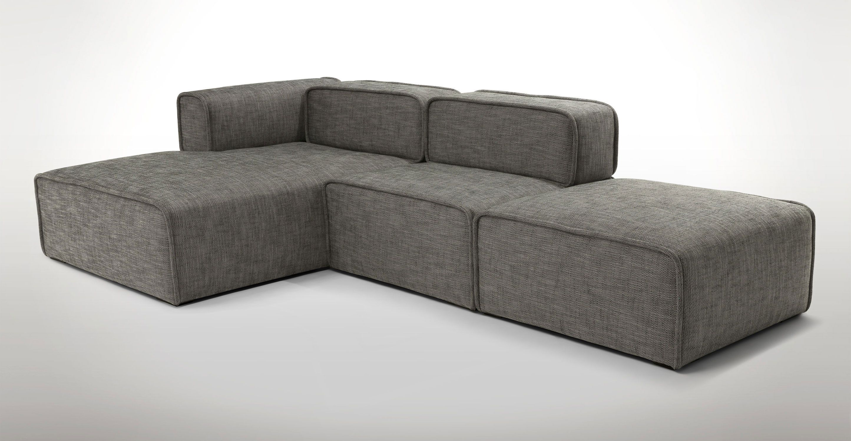 Taupe Modular Corner Sectional Sofa Article Quadra Modern