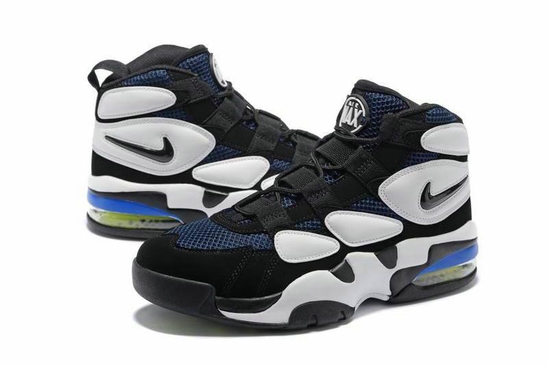 size 40 b09ae f8ed3 Cheap Nike Air Max Uptempo 2 Black White Blue 472490-010