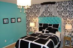 Tiffany blue inspired bedroom