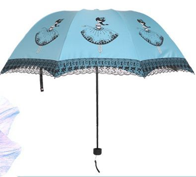 Folding Umbrella Parasol Rain Korean Kobold Women Anti UV Lightweight Sun Umbrellas Lace A+ Quality Chinese Parasols Corporation