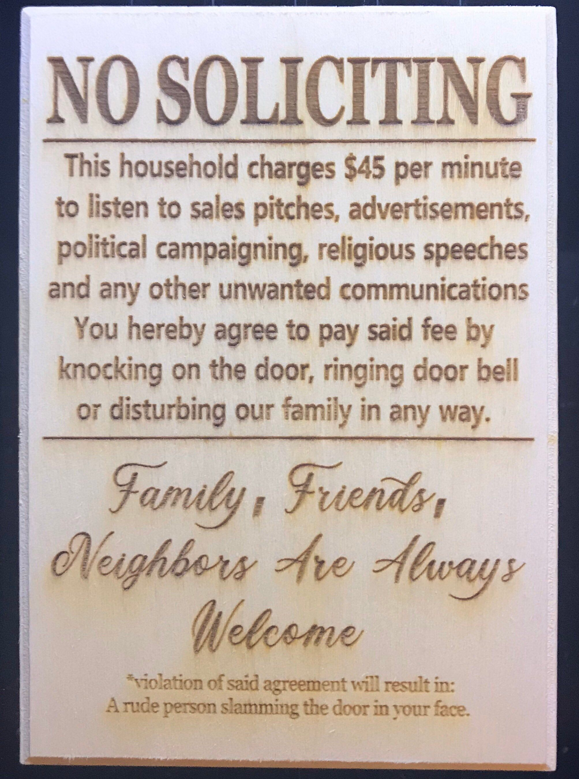 No Soliciting Sign, Funny Sign, Front Door Decor, Do Not Disturb Sign, Front Porch Decor, Funny Gifts, Welcome Sign, Do Not Ring Doorbell