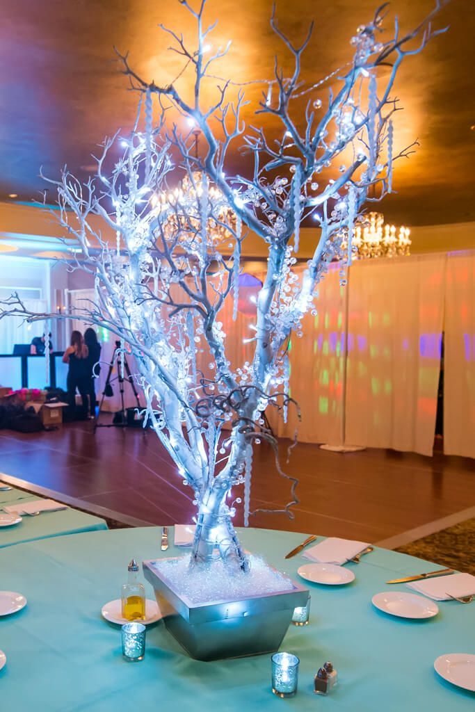 Winter tree centerpiece my wedding pinterest