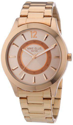 Mike Ellis New York Damen-Armbanduhr Analog Quarz Edelstahl M2756ARM - http://uhr.haus/mike-ellis-new-york/mike-ellis-new-york-damen-armbanduhr-analog-quarz