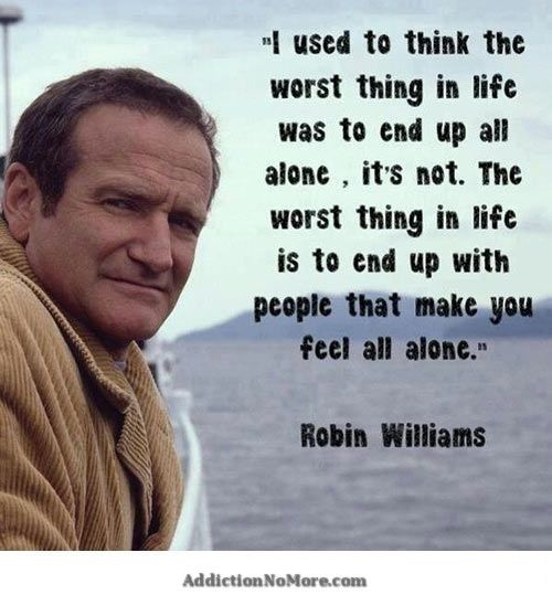 Drugrehabserivces1 Words Brilliant Quote Robin Williams Quotes
