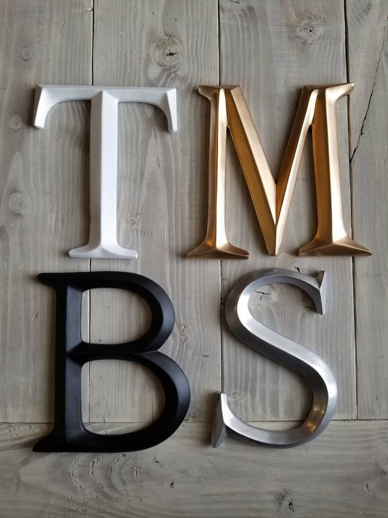 Wall Decor Large Letter Nursery Decor Wedding Decor Metallic