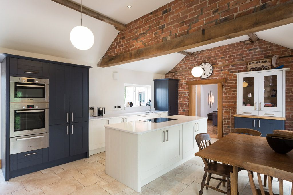 Beau Kitchen In Barn Conversion