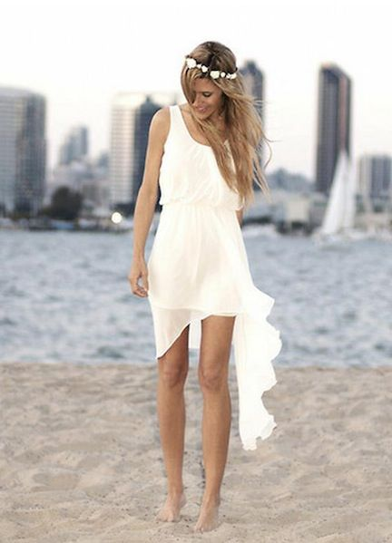 White Dress Engagement Party