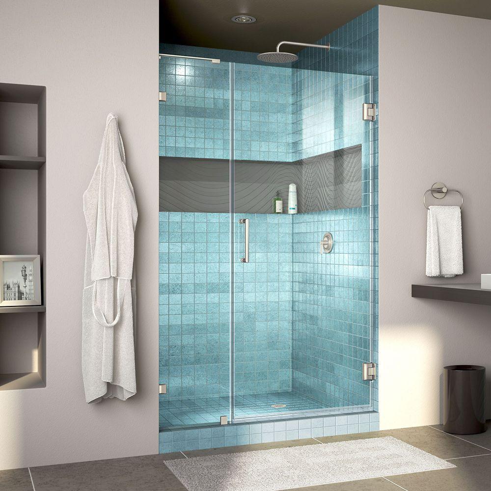 Unidoor Lux 40 Inch W X 72 Inch H Fully Frameless Shower Door With