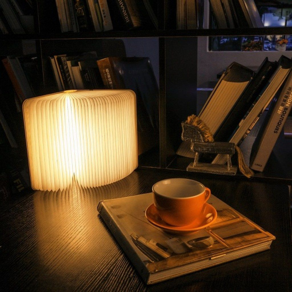 Wooden Folding Book Light Book Lamp Wooden Lamp Lamp