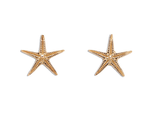 Handcrafted Starfish Stud Earrings In 18ct Gold By Patrick Mavros