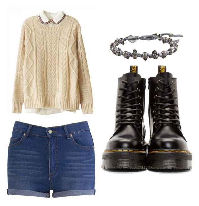 """""""Outfit Idea by Polyvore Remix"""" by polyvore-remix ❤ liked on Polyvore featuring Chicnova Fashion, Cheap Monday, M. Cohen and Dr. Martens"""