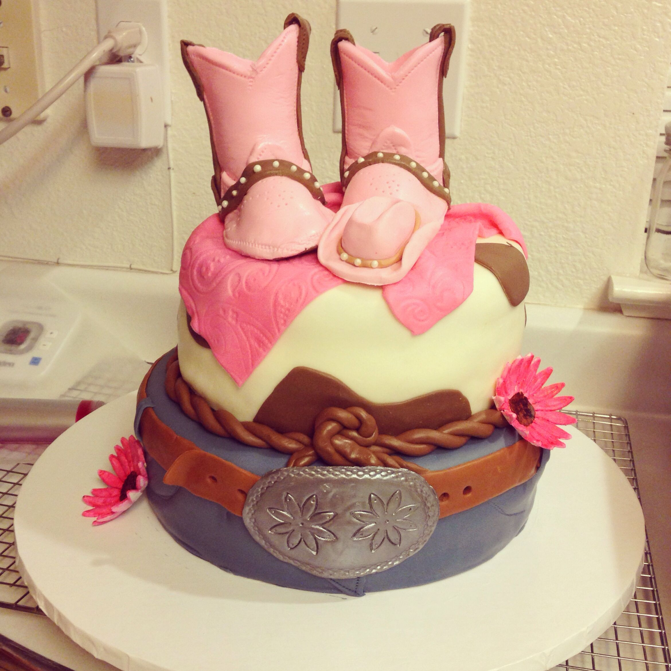 Cowgirl baby shower cake My cakes Pinterest