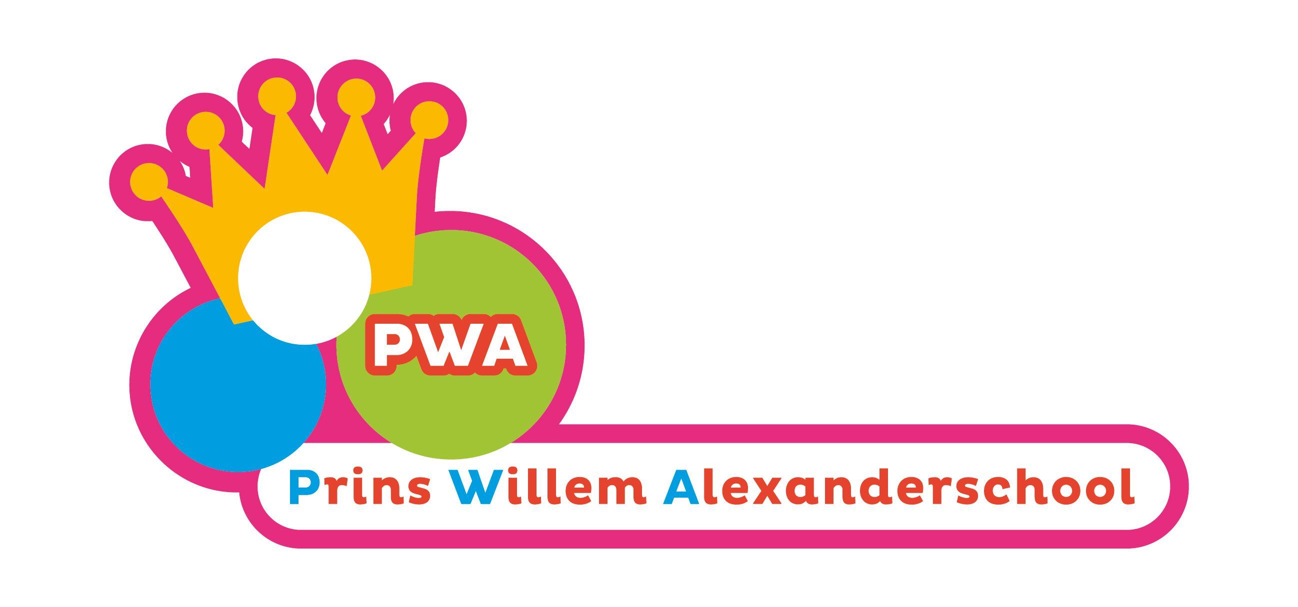 Logo voor de Prins Willem Alexanderschool in Zoetermeer.