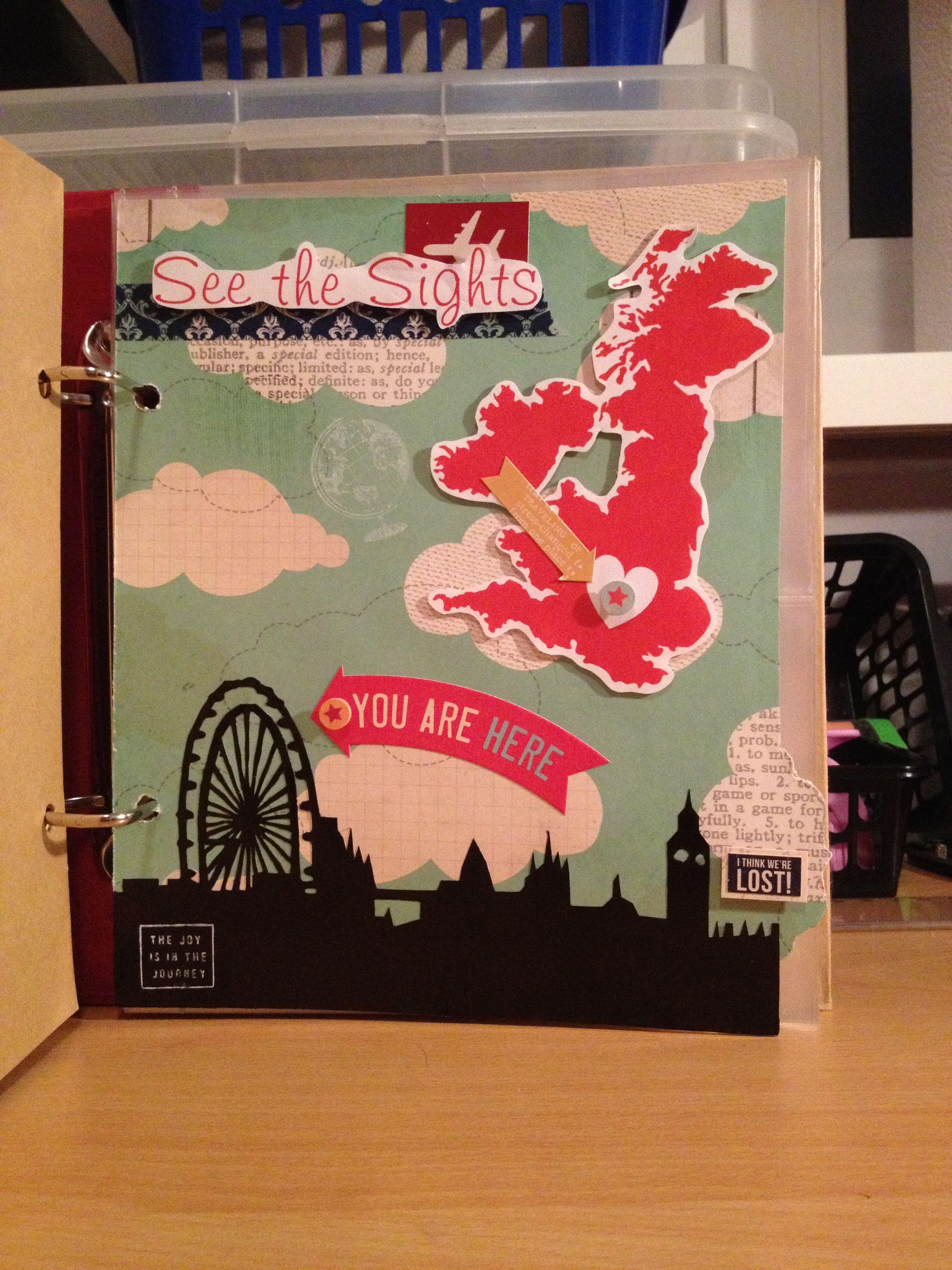 Scrapbook ideas england - London Scrapbook Tab