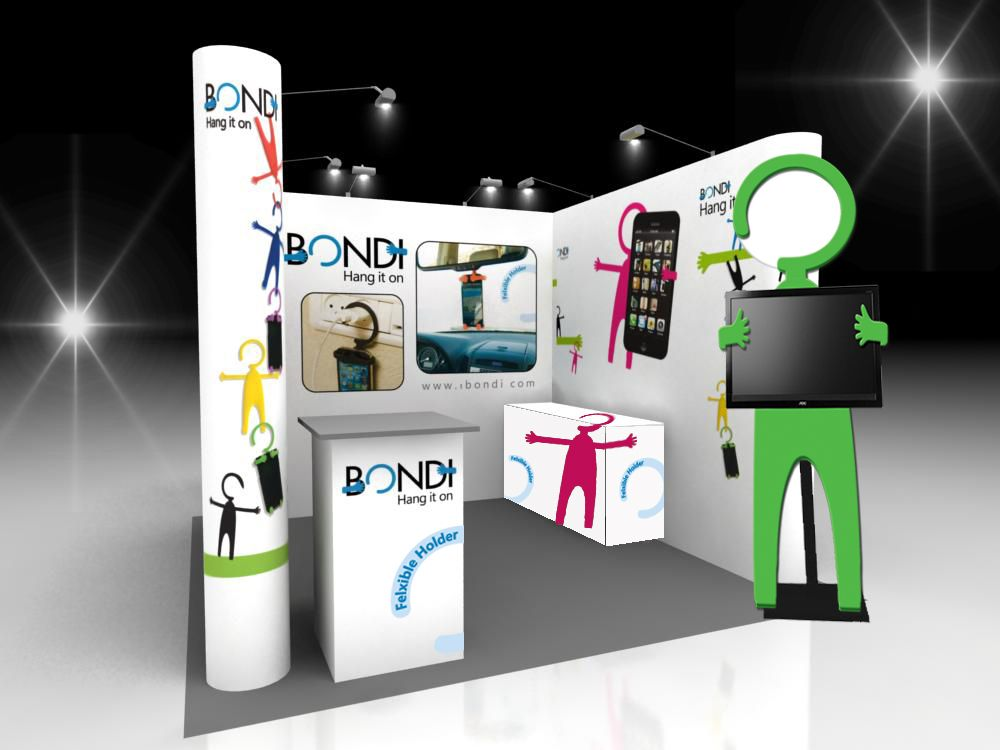 Bondi exhibition booth. #iphone #holder #case #ibondi #bondi #car ...