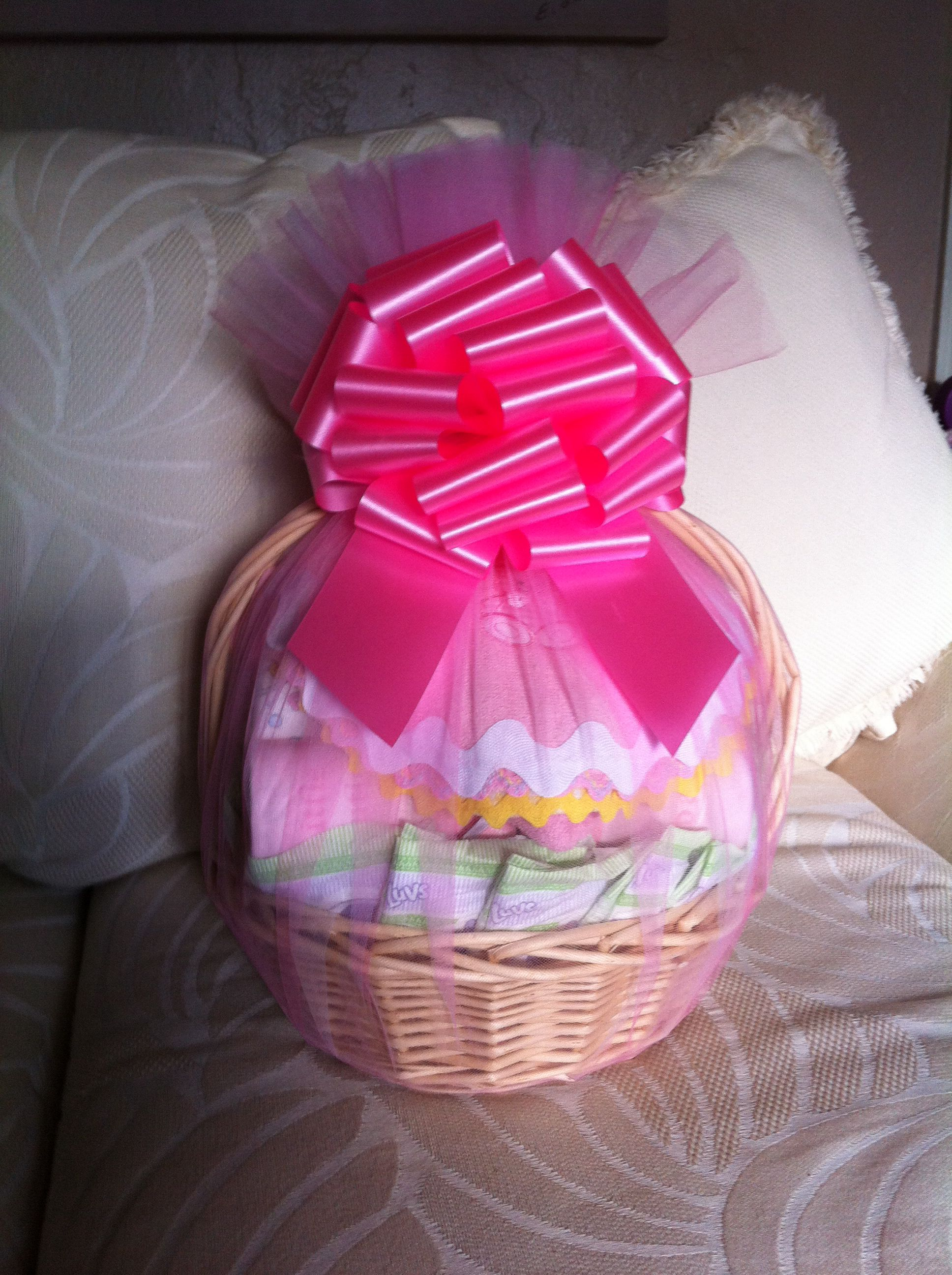 Baby girl basket from Kitty's Kreations.