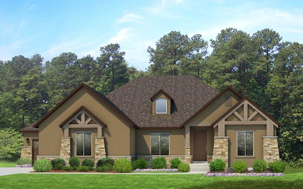 Red Deer - A Mountain Rustic style rambler house plan - Walker ...
