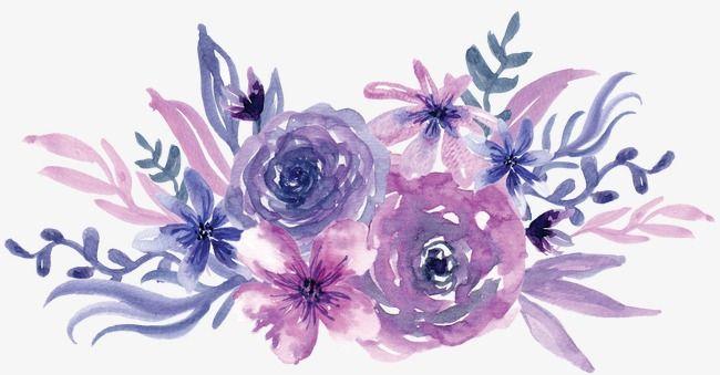 Watercolor Purple Flowers Flower Art Purple Flowers Watercolor Flowers