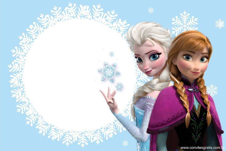 Pin De Liz En Birthday Frames Invitaciones De Frozen Fiesta De