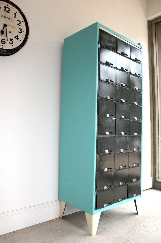 1950s hallway ideas  Vintage Industrial us Upcycled pigeon by TheRetroStationUK