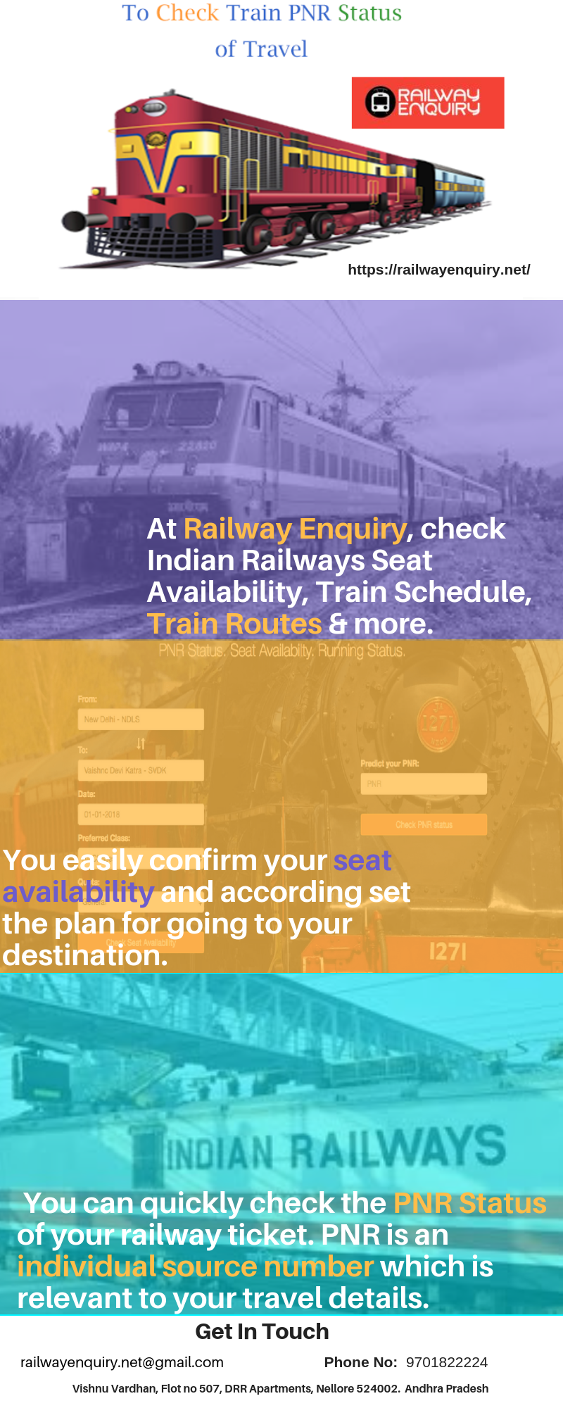 Check Railway PNR status online on Railway Enquiry  Know about the