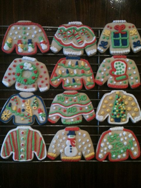 Ugly Christmas Sweater Cookies Ugliest christmas sweaters