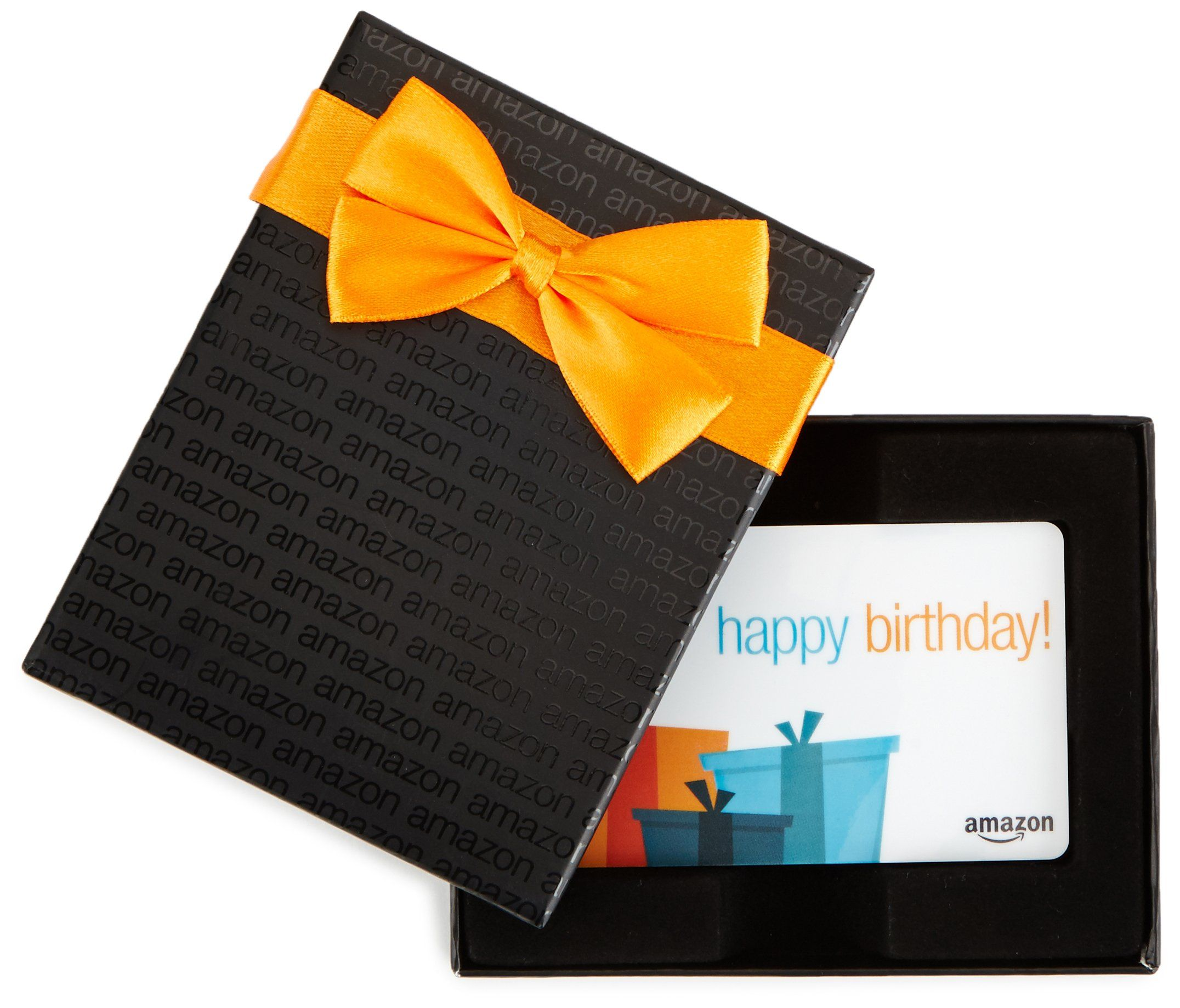 Amazon Com 150 Gift Card In A Black Gift Box Birthday Presents Card Design Click On T Happy Birthday Card Design Birthday Card Design Happy Birthday Cards