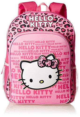 Fast Forward Little Girls Hello Kitty 3D Eva Molded Backpack Pink Black