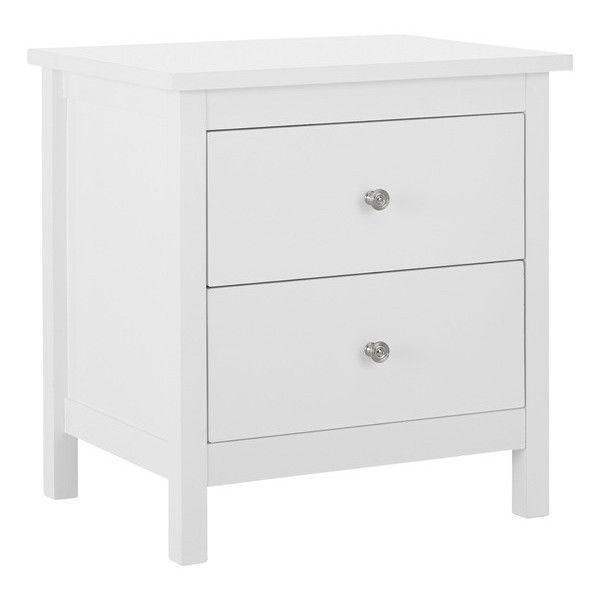 Hayman 2 Drawer White Bedside Table Bedroom White Bedside Table Value Furniture Bedroom Bedside Table