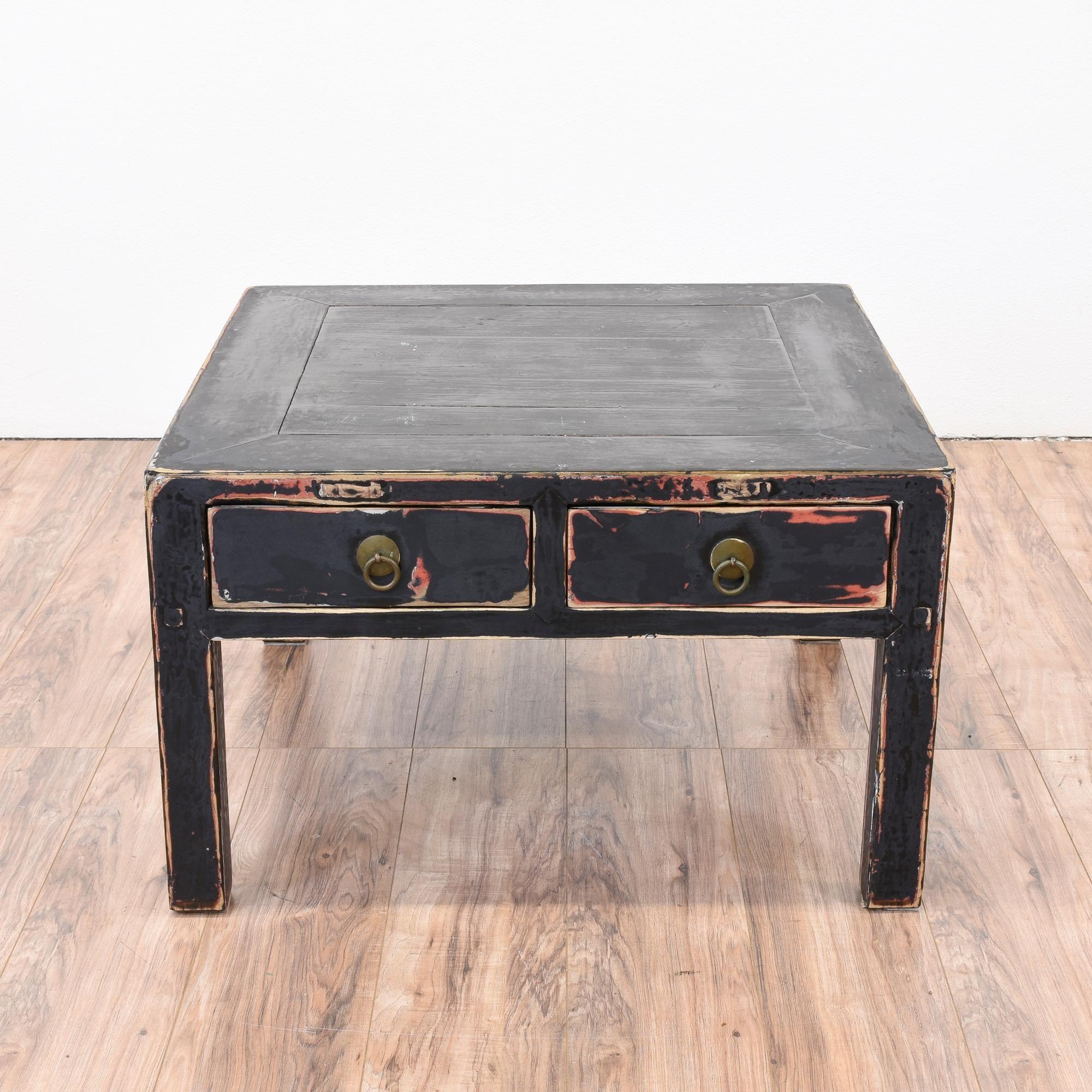 Square Black Shabby Chic Coffee Table