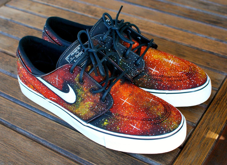 48e31805e16c Nike Zoom Stefan Janoski Solar Flare Galaxy Skate Shoes