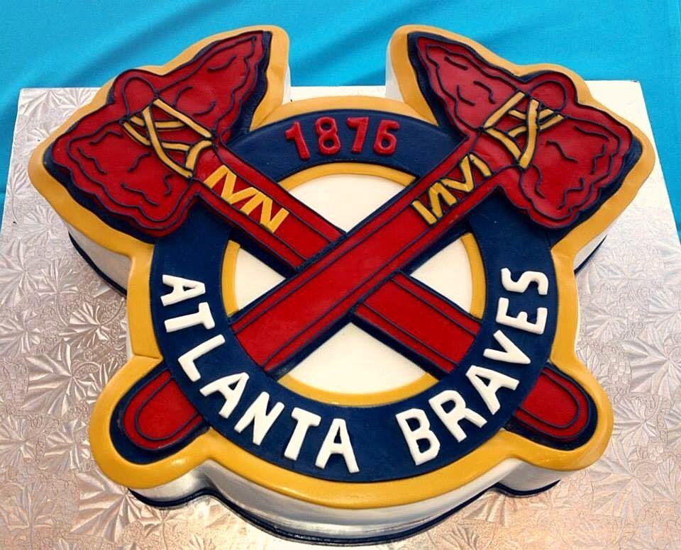 Atlanta Braves Groom S Cake Brave Cakes Brave Birthday Cakes Grooms Cake
