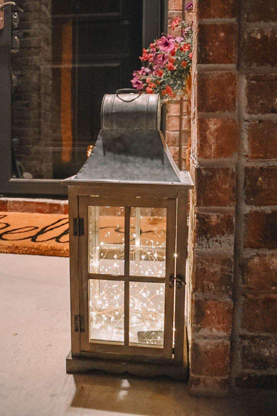 Spring Front Porch Tour And Diy Solar Lantern Cute Ideas For Your Porch Diy Solar Lanterns Porch Lanterns Lanterns Decor