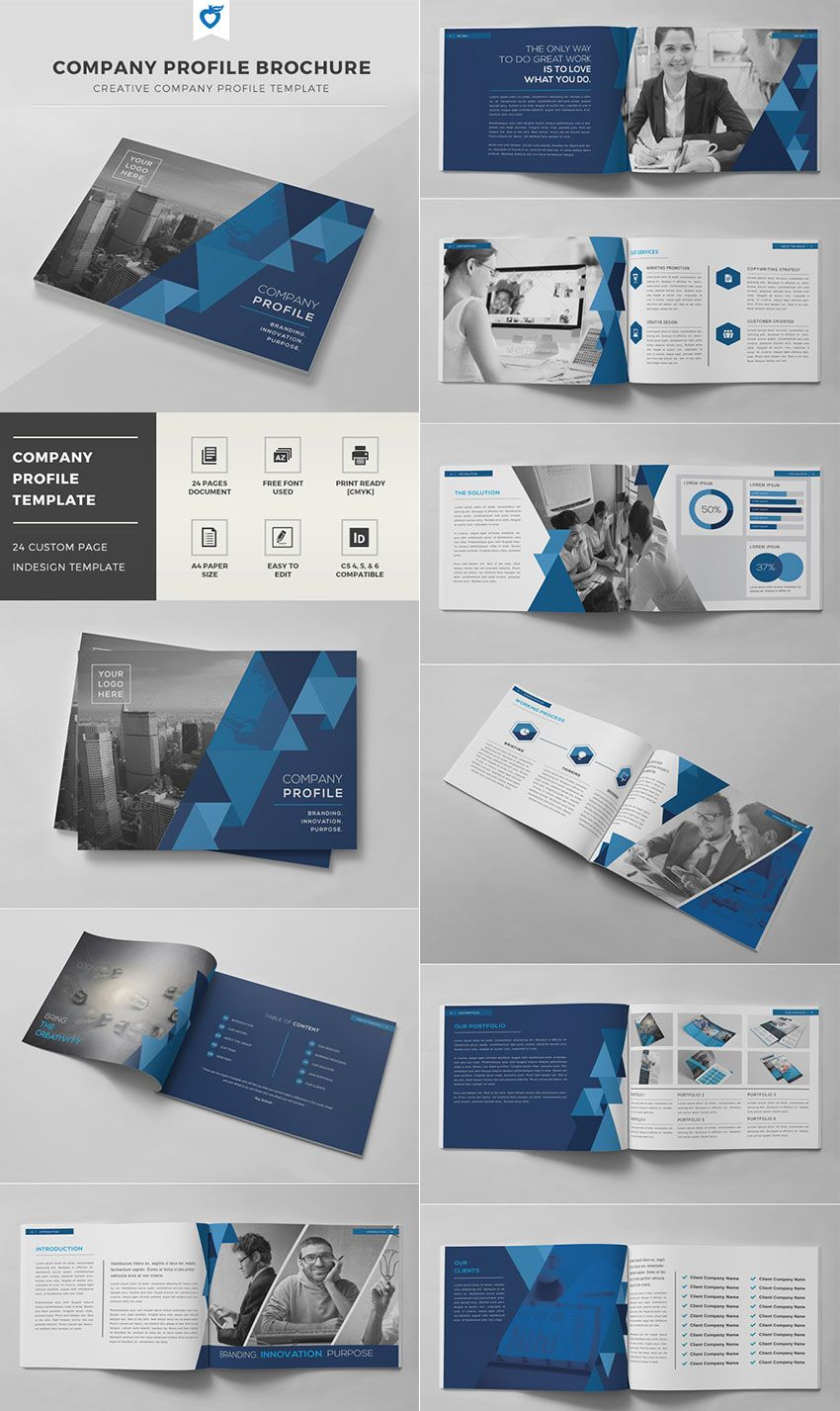 Company Profile Brochure - INDD Template | brochure | Pinterest ...