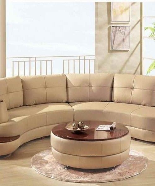 Curved Sofa For Small Spaces: Leather Sectional Sofa For Small Spaces