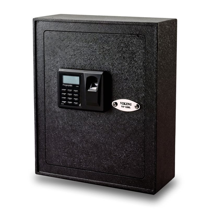 Viking Vs 12bl Biometric Wall Mounted Safe Wall Mount Biometrics Make Keys