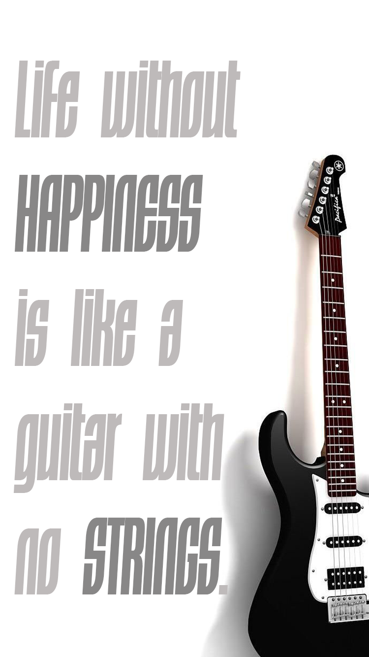 Mobile Wallpapers Guitar Quote 01 Iphone Wallpapers In 2019