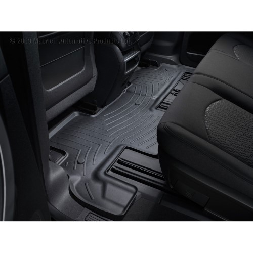 Weathertech 441112 Black Rear Floor Liners Mats For 07 14 Gmc