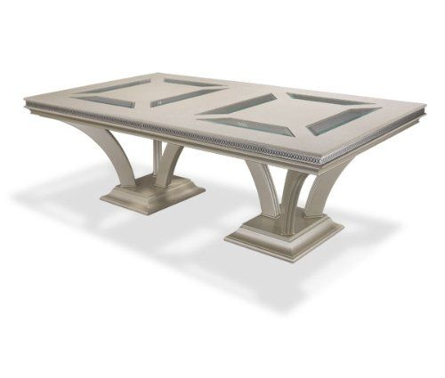 Hollywood Swank Pearl Trestle Dining Table By Aico Amini