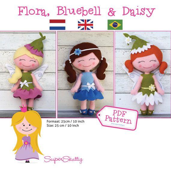 Apostila digital Flora Bluebell & Daisy moldes by SuperSkattig ...